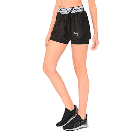 Blast 2 in 1 Woven Women's Running Shorts, Puma Black, small-IND