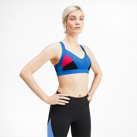 Women's Training Bra, Blue Glimmer-Nrgy Rose, small