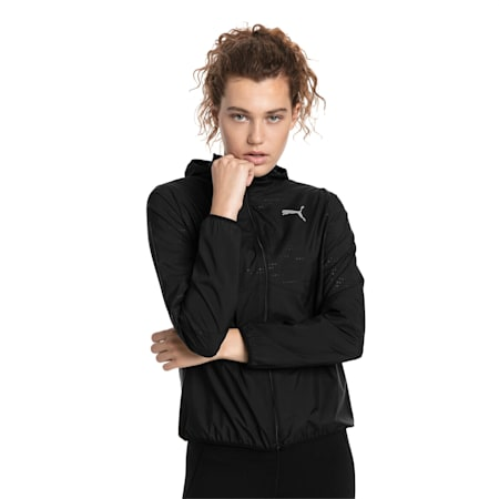 Ignite Woven Hooded Women's Running Track Jacket, Puma Black, small-SEA