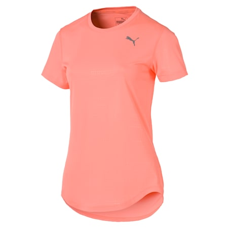 IGNITE dryCELL Women's Running T-Shirt, Bright Peach, small-IND