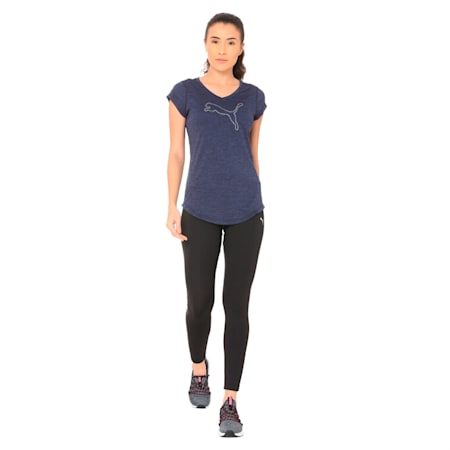 Heather Cat Tee, Peacoat Heather, small-IND
