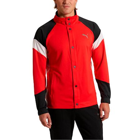 A.C.E. Men's Track Jacket, High Risk Red-Puma Black, small