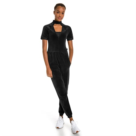 PUMA x SELENA GOMEZ Women's Training Jumpsuit, Puma Black, small-IND