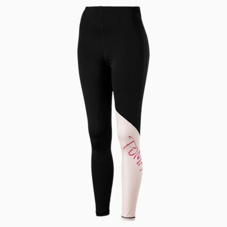 Leggings da training da donna Sweet 7/8, Puma Black-Barely Pink, small