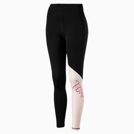 Leggings de training Sweet 7/8 para mujer, Puma Black-Barely Pink, small