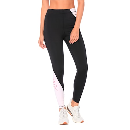 Sweet Women's 7/8 Tights, Puma Black-Barely Pink, small-IND
