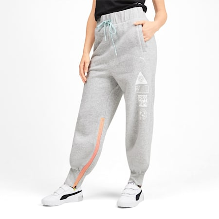 SG x PUMA Track Pants, Light Gray Heather, small
