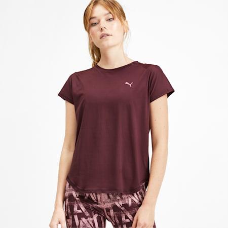 Studio Mesh dryCELL Women's T-Shirt, Vineyard Wine, small-IND
