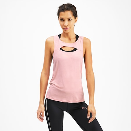 SHIFT Knitted Women's Training Tank Top, Bridal Rose, small-SEA