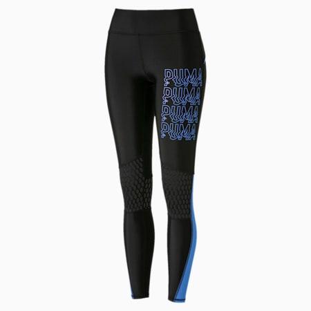 SHIFT Women's Mesh Leggings, Puma Black-Blue Glimmer, small