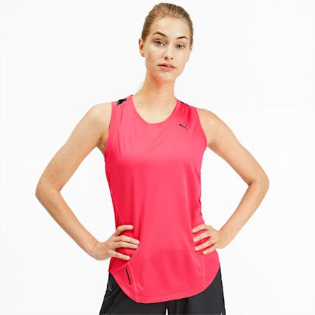 IGNITE Women's Running Tank Top, Pink Alert-Puma Black, small-SEA