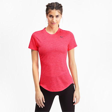 IGNITE dryCELL Heather Women's T-Shirt, Pink Alert Heather, small-IND