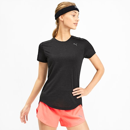 IGNITE Heather Women's Tee, Puma Black Heather, small