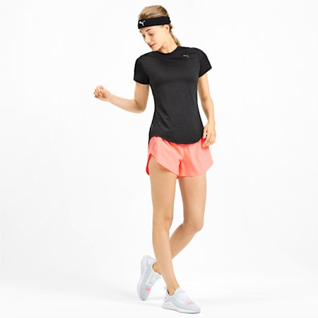 IGNITE dryCELL Heather Women's Tee, Puma Black Heather, small-IND