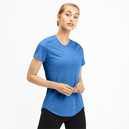 IGNITE dryCELL Heather Women's T-Shirt, Blue Glimmer Heather, small-IND