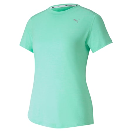 IGNITE dryCELL Heather Women's  T-shirt, Green Glimmer Heather, small-IND