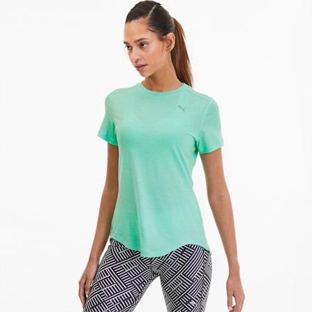 IGNITE Heather Damen T-Shirt, Green Glimmer Heather, small