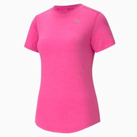 IGNITE dryCELL Heather Women's  T-shirt, Luminous Pink Heather, small-IND