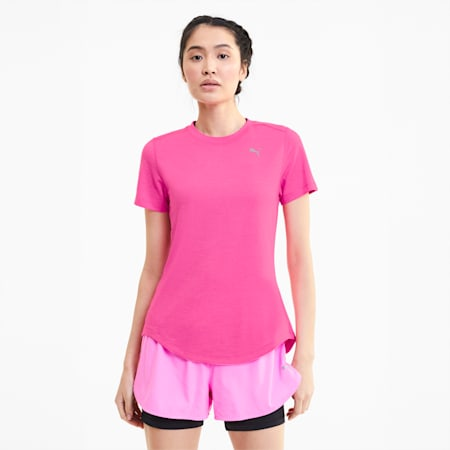 이그나이트 헤더 반팔 티셔츠/Ignite Heather SS Tee, Luminous Pink Heather, small-KOR