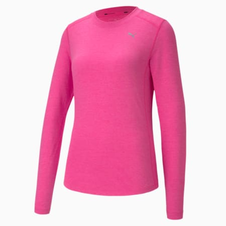IGNITE Long Sleeve Reflective Tec Women's T-Shirt, Luminous Pink Heather, small-IND
