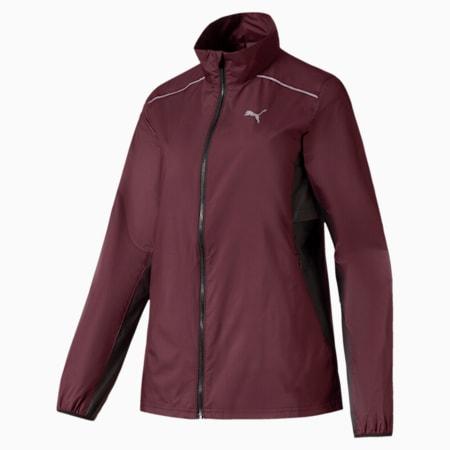 IGNITE Women's windCELL Jacket, Vineyard Wine-Puma Black, small-IND