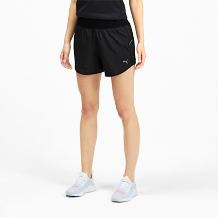 "IGNITE 4"" Women's Running Shorts, Puma Black, small-GBR"