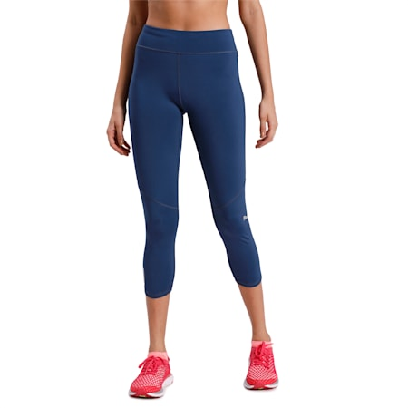 IGNITE 3/4 dryCELL Women's Running Tights, Dark Denim, small-IND