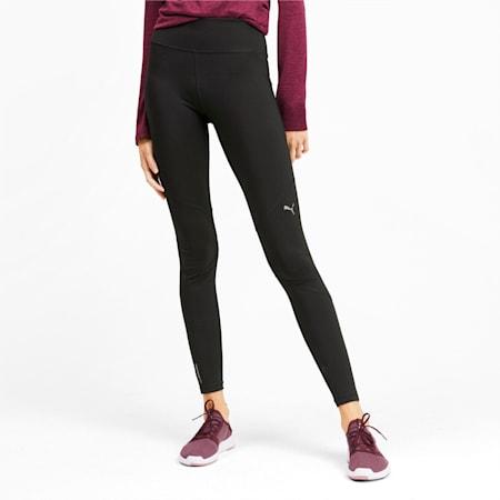 IGNITE Reflective Tec Women's Running Tights, Puma Black, small-IND