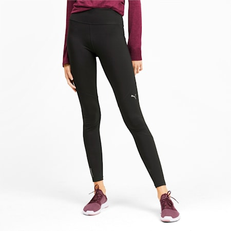 IGNITE Reflective Tec dryCELL Women's Running Tights, Puma Black, small-IND