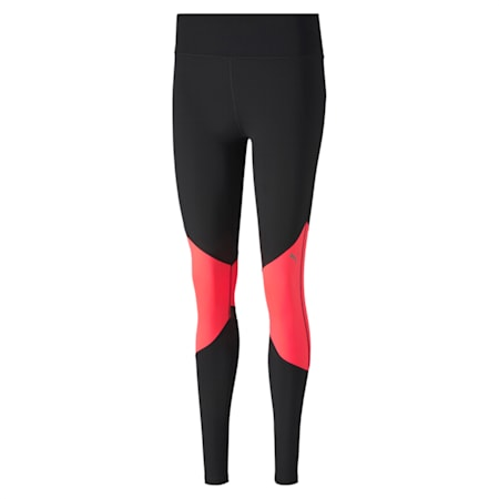IGNITE Reflective Tec dryCELL Women's Running Tights, Puma Black-Ignite Pink, small-IND
