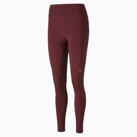 IGNITE Reflective Tec dryCELL Women's Running Tights, Burgundy, small-IND