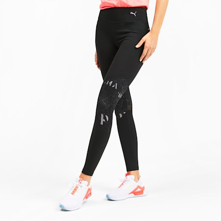Graphic Women's Leggings, Puma Black-Puma Black, small