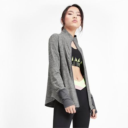 Studio Knit dryCELL Women's Training Jacket, Medium Gray Heather, small-IND
