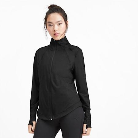 Studio Knit Women's Training Jacket, Puma Black, small-IND