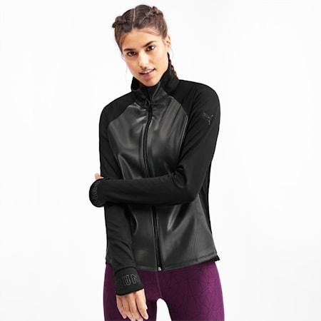 Get Fast Winter Woven Full Zip Women's Running Jacket, Puma Black, small-IND