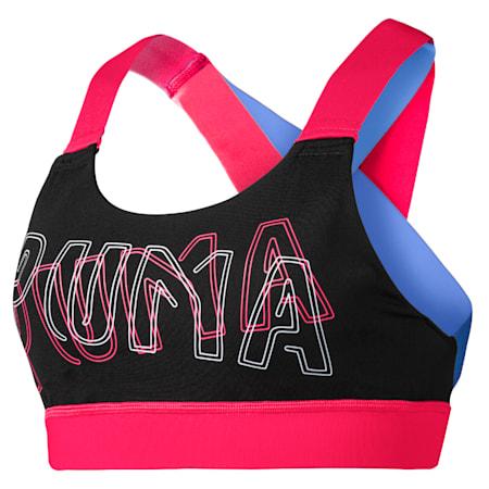 Feel It Women's Training Bra, Puma Black-Nrgy Rose, small-SEA