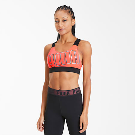 Feel It Women's Mid Impact Bra, Ignite Pink-BRIGHT ROSE, small