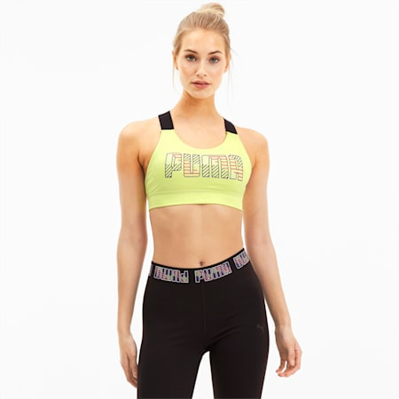 Feel It Women's Training Bra, Sunny Lime, small