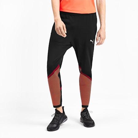 Reactive evoKNIT Men's Pants, Puma Black-Rhubarb, small
