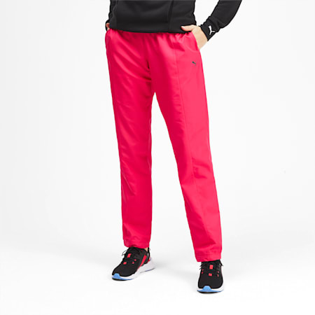 PUMA Woven Women's Warm Up Pants, Nrgy Rose, small