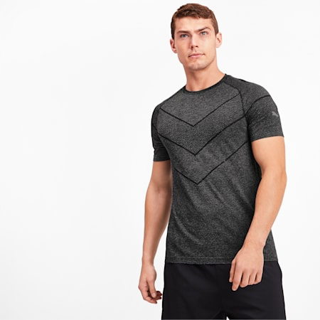 Reactive evoKNIT dryCELL Men's Tee, Puma Black Heather, small-IND