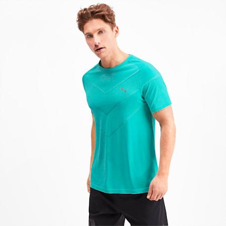 Reactive evoKNIT Herren T-Shirt, Blue Turquoise Heather, small