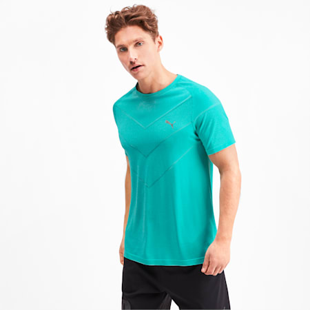 Reactive evoKNIT dryCELL Men's Tee, Blue Turquoise Heather, small-IND