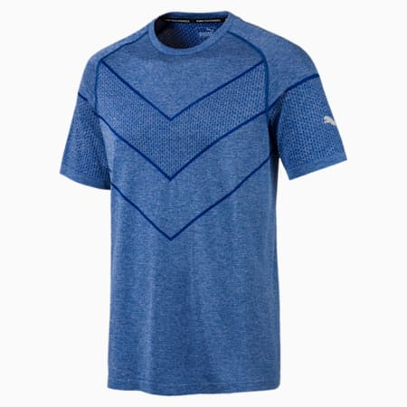 Reactive evoKNIT dryCELL Men's T-Shirt, Galaxy Blue Heather, small-IND