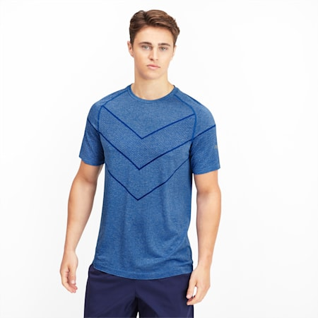 Reactive evoKNIT dryCELL Men's Tee, Galaxy Blue Heather, small-IND