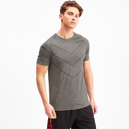 Reactive evoKNIT Herren T-Shirt, Medium Gray Heather, small