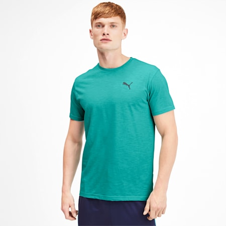 Reactive Herren T-Shirt, Blue Turquoise Heather, small