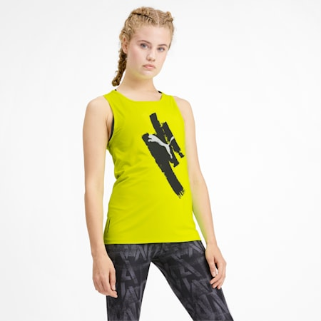 Be Bold Women's Graphic Tank, Yellow Alert, small