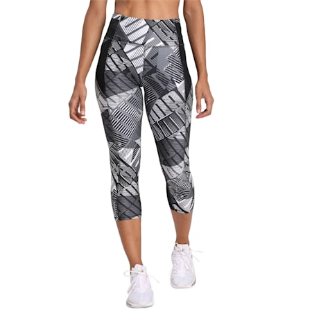 Be Bold All-Over Print 3/4 dryCELL Women's Training Tights, PumaBkPumaWh-Be Bold Q1 Prt, small-IND