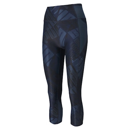Be Bold All-Over Print 3/4 dryCELL Women's Training Tights, Dark Denim-Be Bold Q1 Prt, small-IND